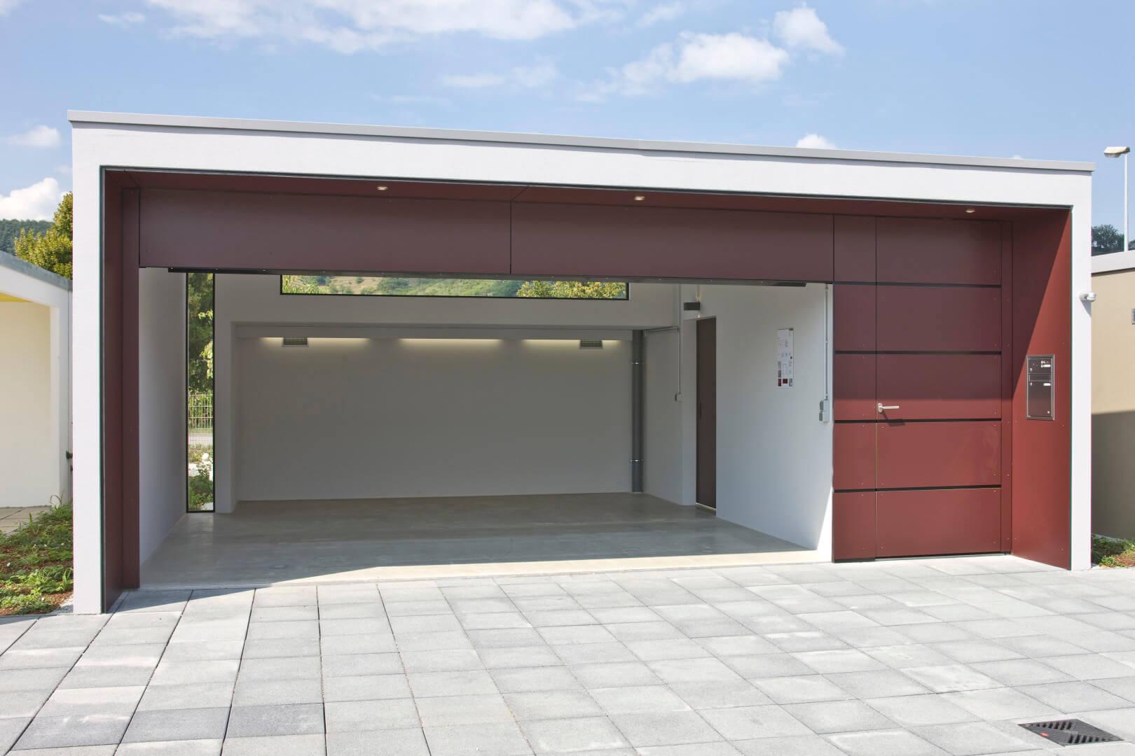 Doppelgarage mit abstellraum maße  Maß-Fertiggaragen von Beton Kemmler