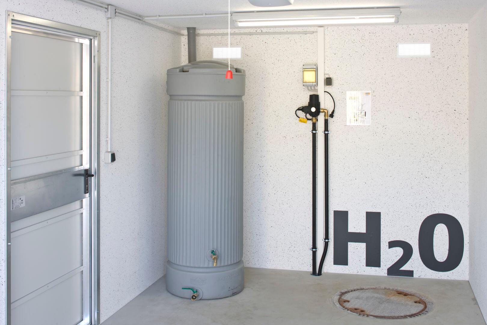regenwasserspeicher - ausstattung