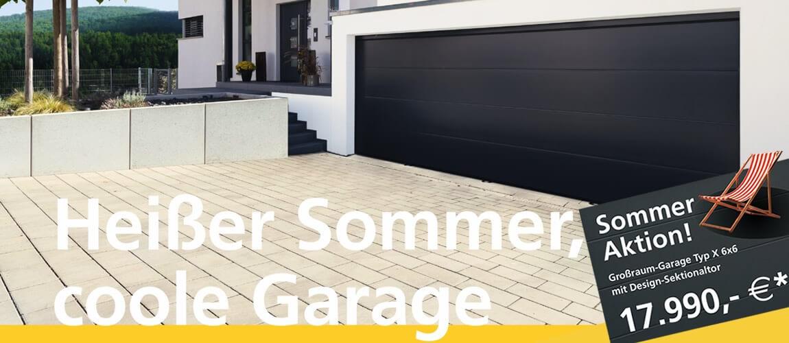 Sommeraktion - Großraumgarage mit Design-Sektionaltor